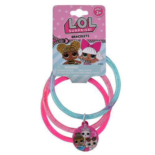 (UPD LOL! 3 on Glitter Bangles with Plastic Charm L.O.L-12 PCS)