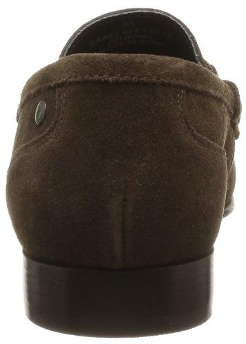 Base London Journal Pq01 - Zapatos de ante para hombre, color marrón, talla Marrón (Marron (203 Suede Brown))