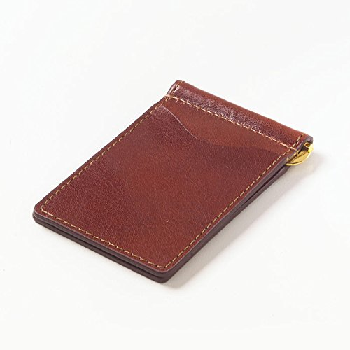 Clava Leather Glazed - Glazed Leather Money Clip Color: Glazed Cognac