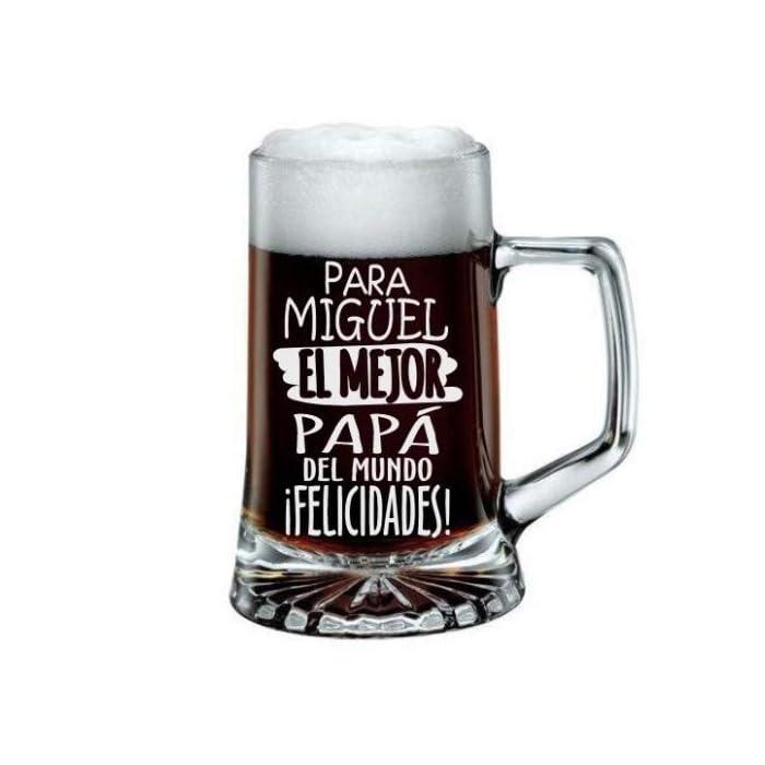 41jqPcSIRjL Jarra de Cerveza Personalizada Día del Padre FELICIDADES MEJOR PAPÁ Regalo Grabado y Personalizado para Hombre o Mujer Obsequio Celebraciones Cumpleaños Aniversarios Día del Padre Detalle personalizado con el nombre y texto que usted quiera Regalo Práctico Elegante Divertido Novedoso y Original Jarra de Cristal de 520 Ml ENVÍO GRATIS EN 24 HORAS