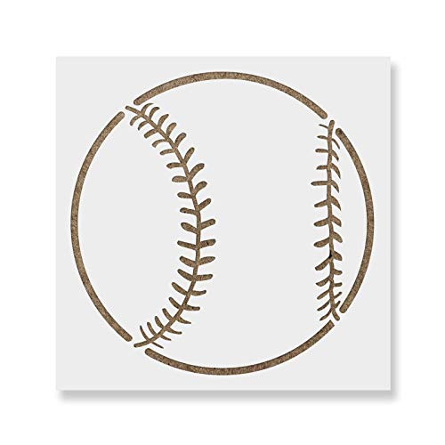 Baseball Stencil Template - Reusable Stencil with Multiple Sizes Available