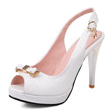 LvYuan Mujer-Tacón Stiletto-Otro-Sandalias-Oficina y Trabajo Vestido Fiesta y Noche-PU-Azul Rosa Blanco Pink