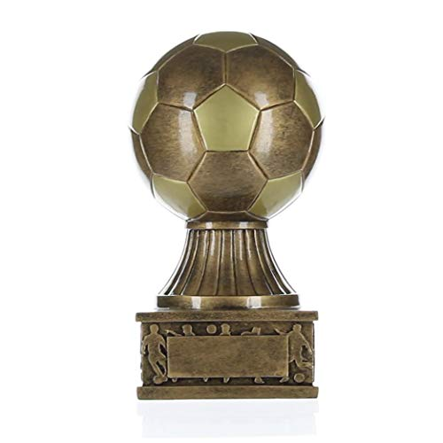 Decade Awards Soccer Ball Tower Trophy, Gold - Futbol Award - 7.5 Inch Tall - Engraved Plate on Request