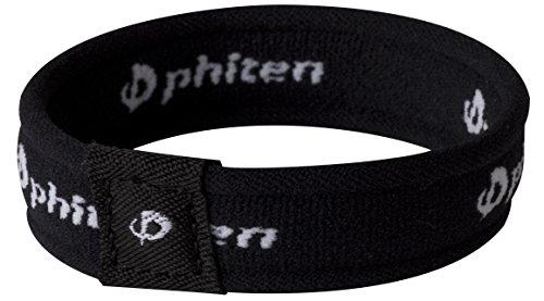Phiten 2nd Gen Titanium Bracelet, Black, 6.75-Inch