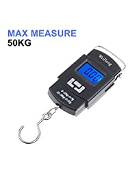 Portable 110lb/50kg Electronic Digital Balance Hanging Luggage Hook Scale Mini Fishing Hunting Scales