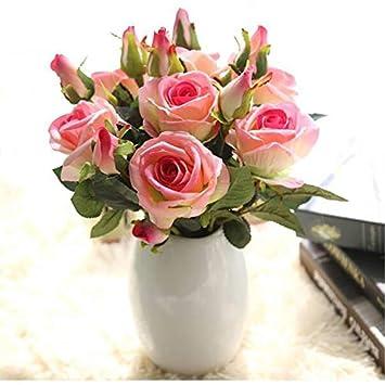 Fleurs artificielles en Flanelle gypsophiles Fleurs artificielles Fleurs artificielles Fleurs artificielles d/écoration de Mariage JklausTap Roses artificielles pivoines