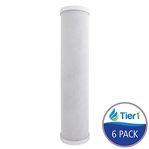 Tier1 EP-20BB 5 Micron 20 x 4.5 Carbon Block Pentek Replacement Water Filter 6 Pack by Tier1
