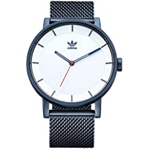 Adidas Watches District_M1. Milanese Stainless Steel Bracelet, 20mm Width (Navy/Silver Sunray/Red. 40 mm).