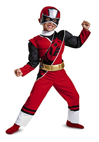 Power Rangers Ninja Steel Toddler Muscle Costume, Red, Small (2T) for $<!--$11.99-->