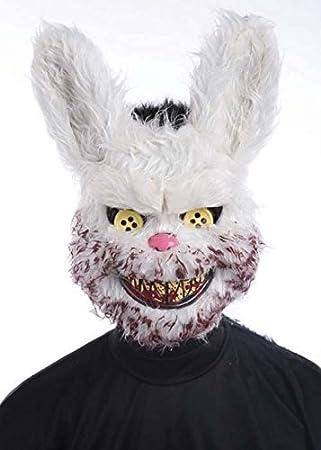 Conejo de conejito Zombie Scary Halloween Máscara