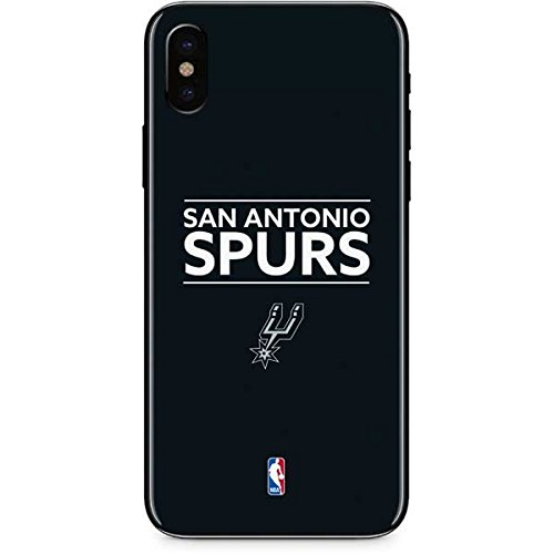 San Antonio Spurs iPhone X Skin - San Antonio Spurs Standard - Black | NBA X Skinit Skin