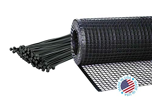 Kidkusion Heavy Duty Deck Guard, Black - 30' L x 34'' H | Made in USA; Indoor/Outdoor Balcony and Stairway Deck Rail Safety Net; Child Safety; Pet Safety; Toy Safety by Kidkusion Inc. (Image #1)