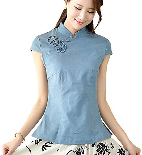 shanghai-story-chinese-oriental-cap-sleeve-tang-qipao-top-blouse-4-blue