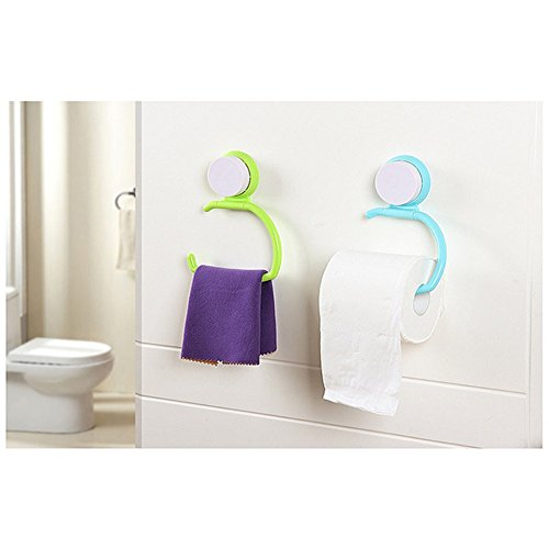 Mexidi Multi-function Hanger With Suction Cup No Trace Kitchen Bathroom Debris Rack Wall Holder for Towel Toilet Paper Keys Jewelry And Other Small Items