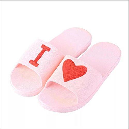 Couple Salle Slip de Ménage Extérieure Pantoufle Légère Été Bains de Printemps Pantoufles Intérieure Pantoufles Sandale pink Douce Anti Casual Unisexe wTFcS