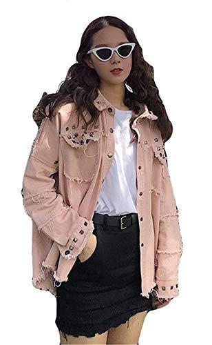 Rivetto Chic Cute Vintage Fidanzato Jacket Giaccone Primaverile XZwPdgXq