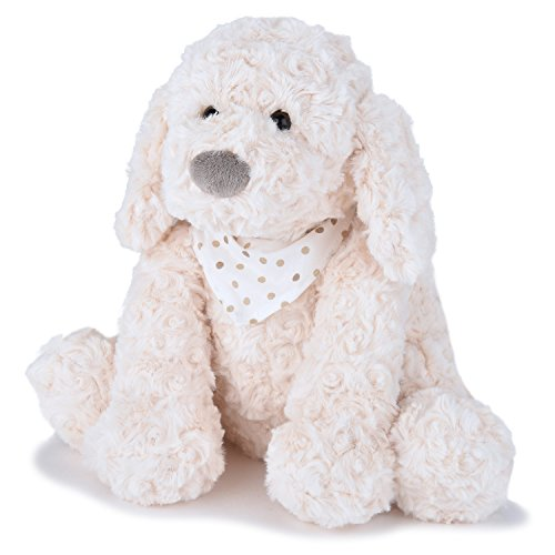 JOON Keiko Rosy Plush Puppy Dog with Scarf, Cream, 10 Inches ()