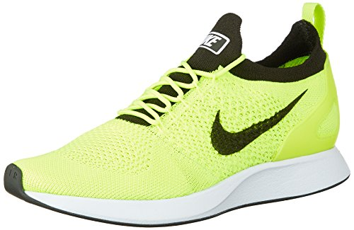 Nike Air Zoom Mariah Flyknit Racer Men's Running Sneaker, Volt/Sequoia-White, 10.5 D(M) US