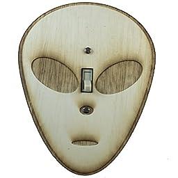 Alien Switch Plate - Raw Wood - 5.7\