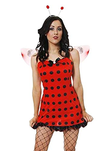 Rimi Hanger Adults Sexy Lady Bug Costume Women Book Week Fancy Dress Party Wear Outfit One Size