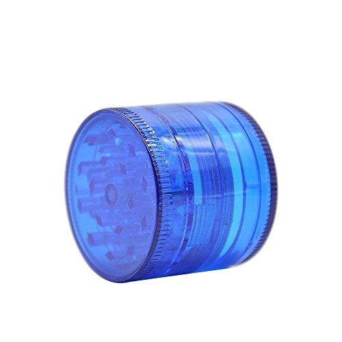 WensLTD 4-Layer Plastic Tobacco Herb Grinder Spice Crusher Grinder, Color Random (Blue) by WensLTD (Image #2)