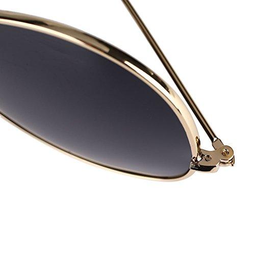 Marco gafas todos Mercurio Plata polarizadas sol aleación de Mujer de para Marco sol gafas Hombre de retro Casual Blanco de días los rOnqx8rf