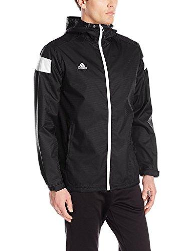 Chaqueta Deportiva Adidas color Blanco y Negro con Cierre Completo