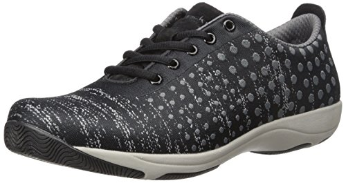 Dansko Women's Hanna Fashion Sneaker, Black/Grey Dot, 39 EU/8.5-9 M US (Dansko Shoes For Women Grey)