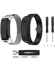 TOPsic Kompatibel mit Garmin Vivosmart HR Armband, Zubehör Milanese Magnetische Verschluss Mesh Edelstahl Metall Ersatz Bracelet Sport Armband Entwickelt für Garmin Vivosmart HR SmartWatch