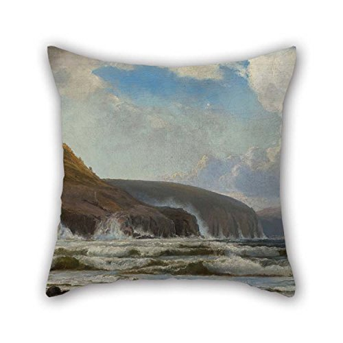 (eyeselect Oil Painting Holger Drachmann - The Coast South of Hammershus Pillow Covers 20 X 20 Inches / 50 by 50 cm for Floor Son Him Relatives Car Seat Coffee House with Both Sides for Christmas)