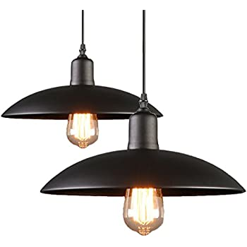 2 pack black iron process pendant light hanging ceiling mounted 2 pack black iron process pendant light hanging ceiling mounted chandelier fixture yihang modern aloadofball Choice Image
