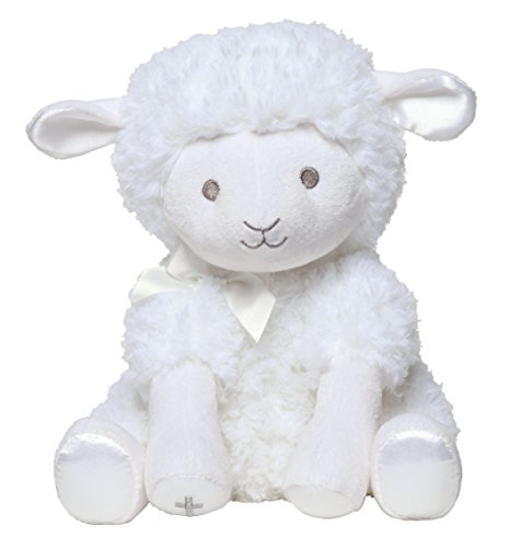 (C.R. Gibson White Musical Baby Lamb Stuffed Animal for Babies, 12'' L)
