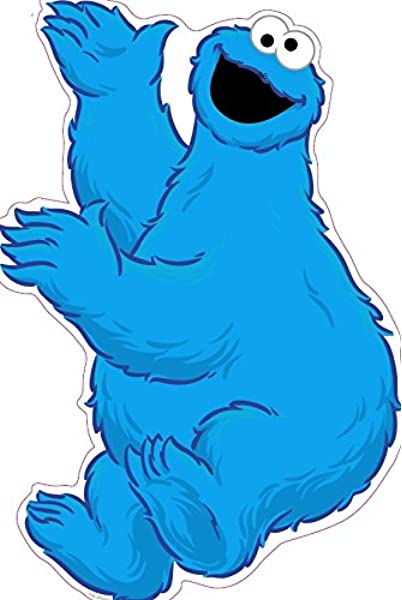 Amazon Com 11 Inch Cookie Monster Sesame Street Removable Wall Decal Sticker Art Home Kids Room Decor Decoration 9 By 11 Inches Arts Crafts Sewing