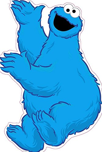 - 11 Inch Cookie Monster Sesame Street Removable Wall Decal Sticker Art Home Kids Room Decor Decoration - 9 by 11 inches