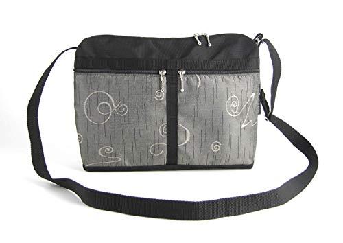 Handmade Fabric Handbags - Medium Crossbody Organizer Purse by GreatBags   Womens Fabric & Nylon Handbag - Lightweight - Water-resistant - Made in USA