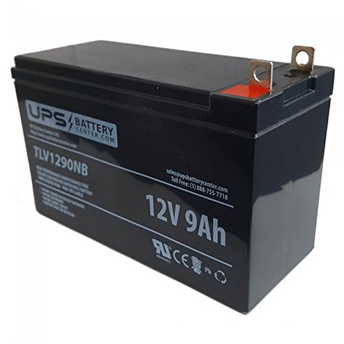 UPSBatteryCenter 12V 9Ah Nut and Bolt Compatible Replacement Battery for Generac 7500 Generator from UPS Battery Center