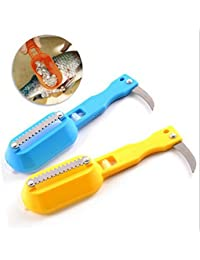 Win 1 Pc Fish Tools Fast Cleaning Fish Skin Steel Fish Scales Brush Shaver Remover Cleaner Descaler Skinner Scaler... reviews