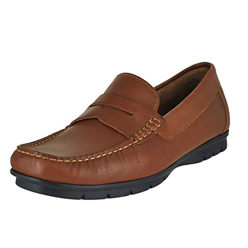 - Sandro Moscoloni Paco Tan Mens Penny Loafer Size 9M
