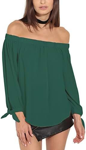Just Quella Women's Off The Shoulder Top Blouse 8422