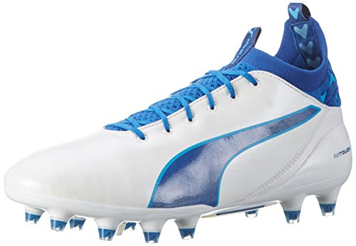 Puma Herren EvoTouch Pro FG Fußballschuhe Weiß (puma white-true blue-blue danube 05)
