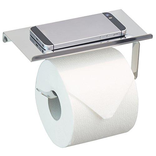 Neater Nest Reversible Toilet Paper Holder with Phone Shelf, Modern Style (Chrome, - Modern Pack Style
