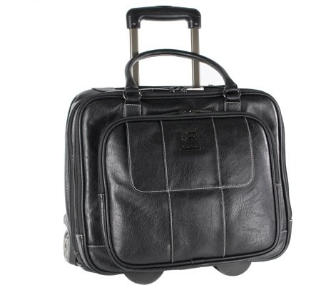 Kenneth Cole Reaction Casual Fling Computer Overnighter Travel Totes, Black (Rolling Kenneth Cole)