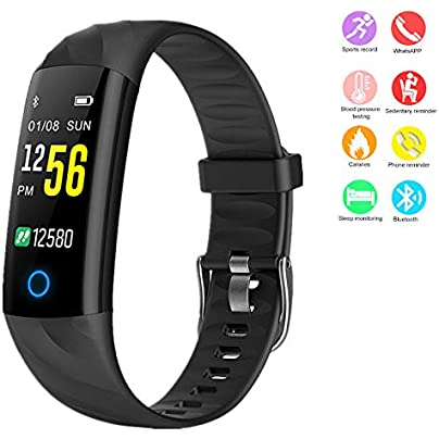 MHCYKJ Fitness Bracelet Ip68 Waterproof Night Running Smart Band Blood Pressure Heart Rate Monitor Wristband Watch Black Estimated Price -