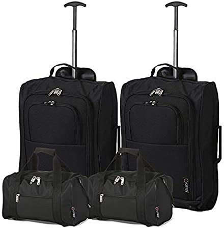 Ryanair Carry On Holdall Bag /& Folding Cabin Hand Luggage Suitcase Bag Set of 2