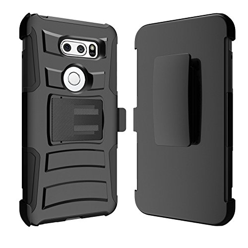 MINITURTLE Case Compatible w/ LG V30 | V30 Plus ScratchResistant Case [Clip Armor for LG V30 | V30 Plus] HardImpact Rugged Swivel Holster Case for LG V30 | V30 Plus w/ Stand Feature Colorful Tree by MINITURTLE (Image #5)