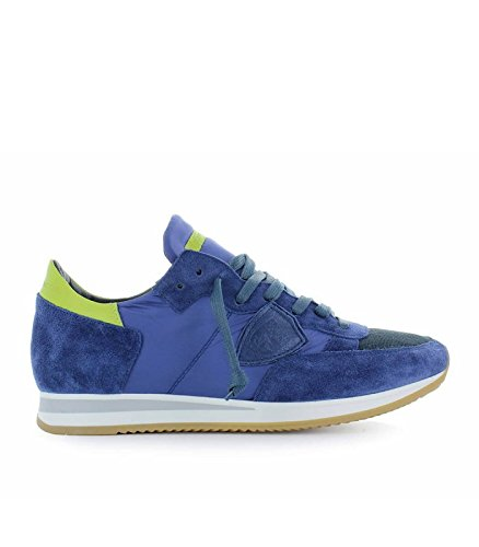 Philippe Model Mens Shoes - Philippe Model Men's Shoes Tropez Mondial Blue Yellow Sneaker Spring Summer 2018