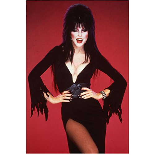 Elvira Cassandra Peterson Deep Cleavage Looking Dark and Sexy Bright Smile and Winking 8 x 10 Inch Photo