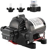 12V DC Water Pressure Diaphragm Pump 2.8GPM/10.6LPM 45PSI, Water Diaphragm Self Priming Pump for RV, Boat, Mar