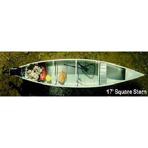 Grumman 17' Square Stern .050 Canoe - Natural Aluminum Finish