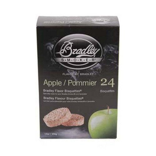 BTAP24 Apple Bisquettes 24-Pack Bradley Smoker Outdoor Cooking Food